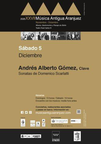 Andrés Alberto Gómez: Sonatas de Domenico Scarlatti